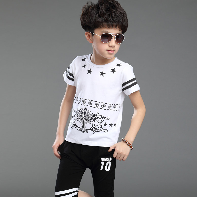 2015-Summer-England-Style-Boys-Clothing-Sets-Cotton-Short-Sleeve-Shorts-Kids-Clothes-Sport-Suits-Boys