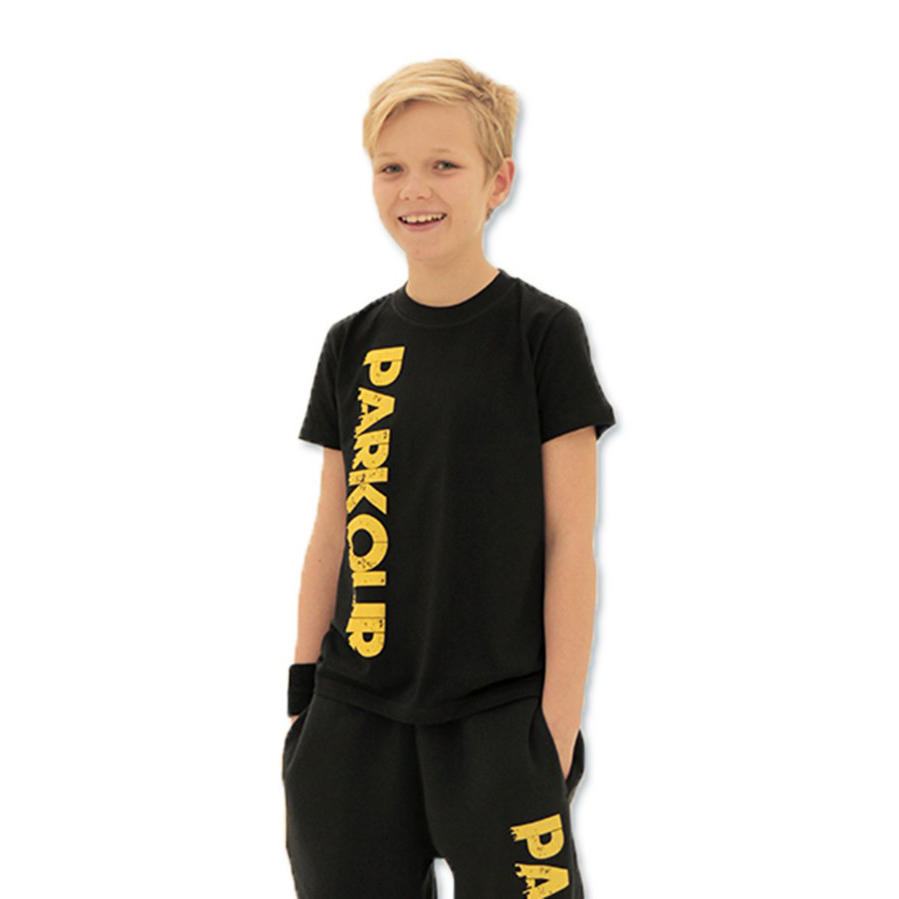 kids-parkour-urban-t-shirt-black-yellow